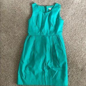 Green jcrew dress